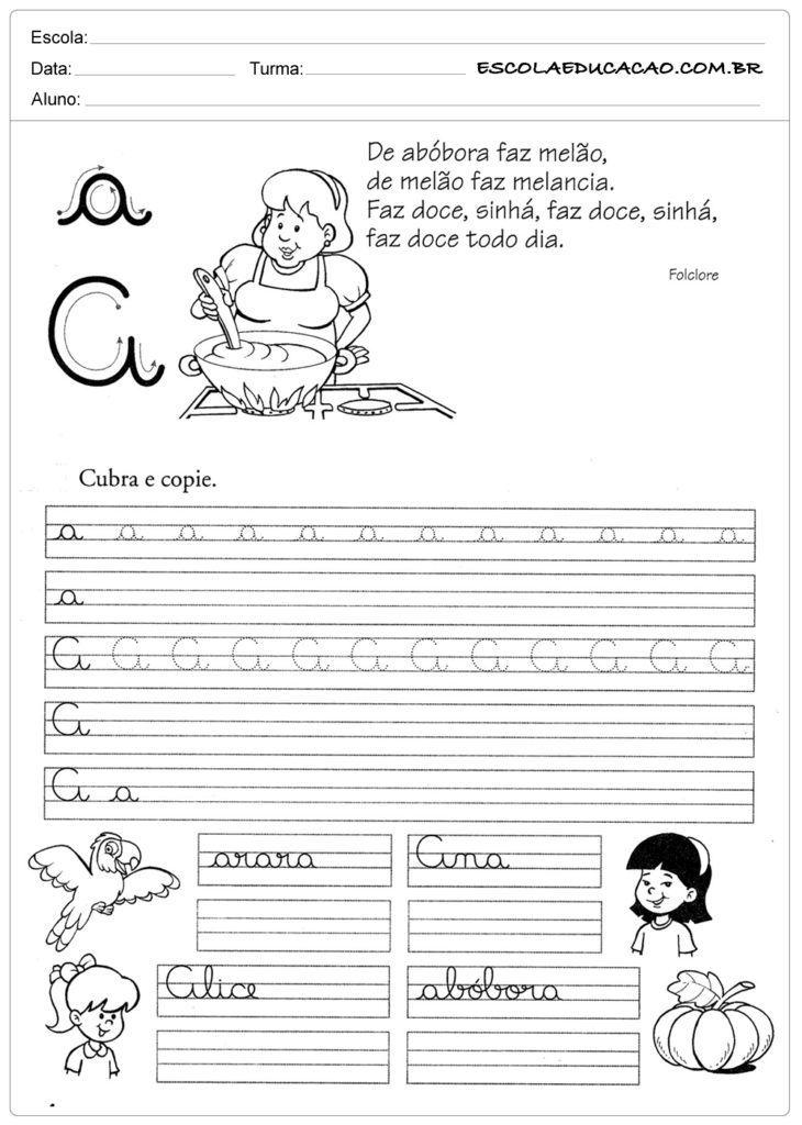 CADERNO DE CALIGRAFIA PARA IMPRIMIR EM PDF