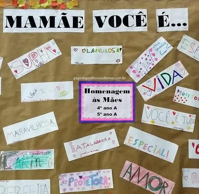 projeto Dia das Mães Resgatando Valores