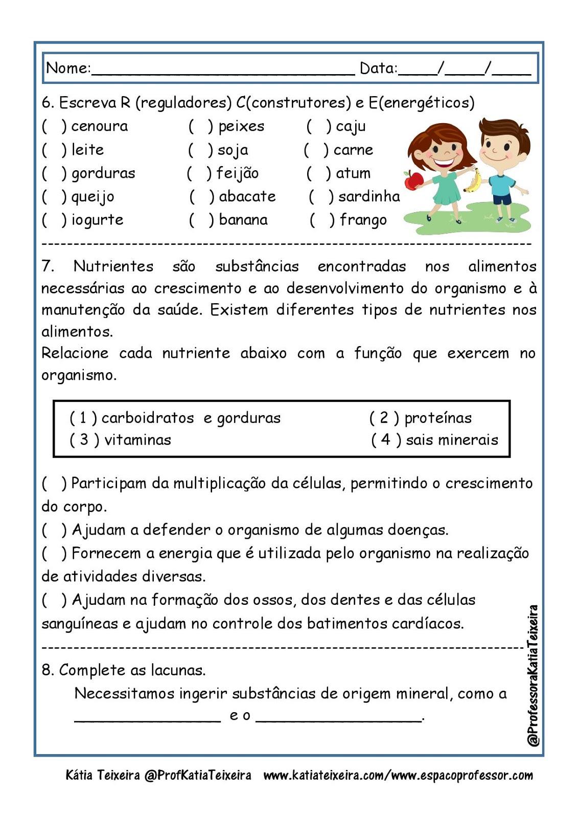 Exercícios sobre os substantivos