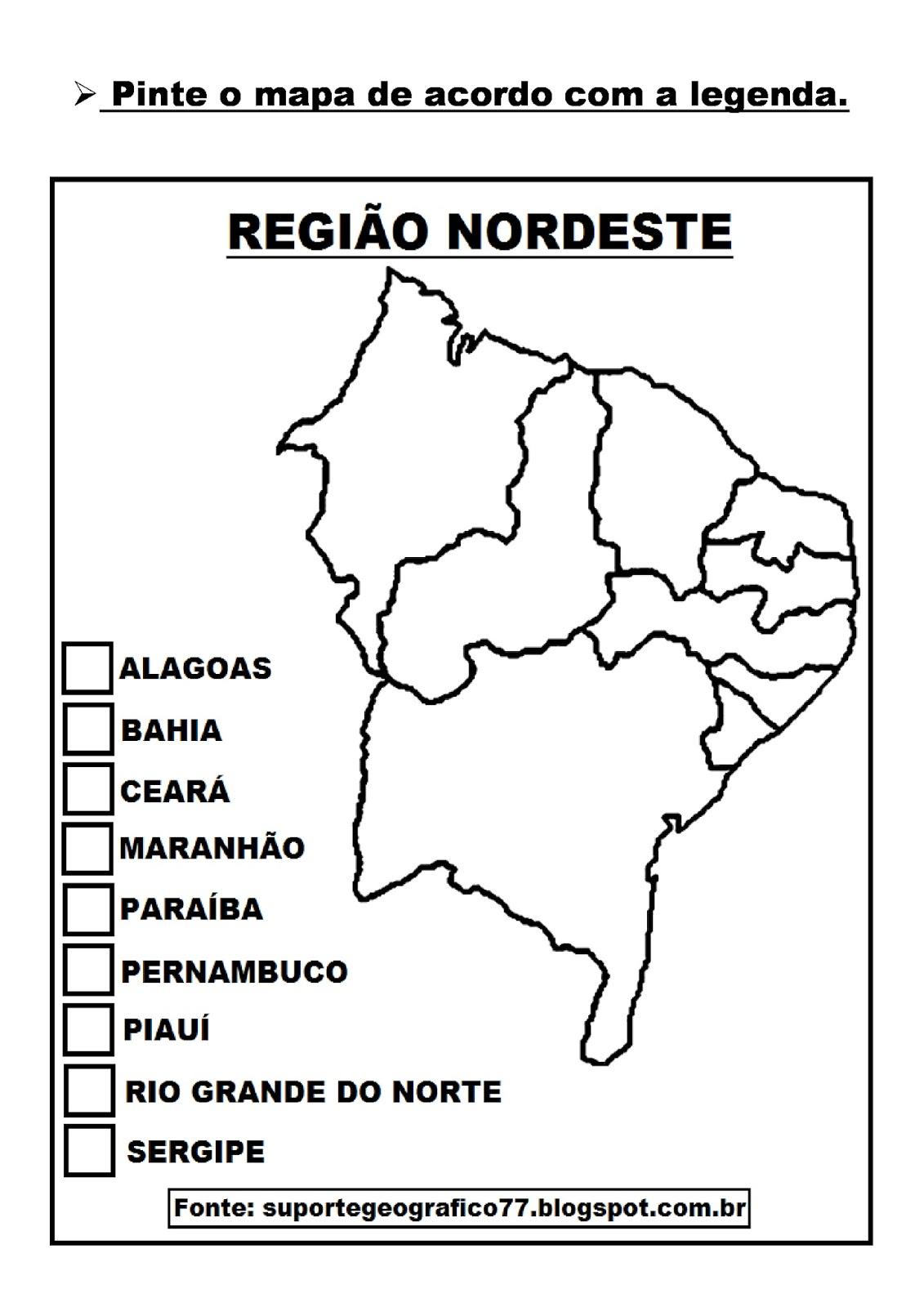 ATIVIDADES SOBRE A REGIÃO NORDESTE