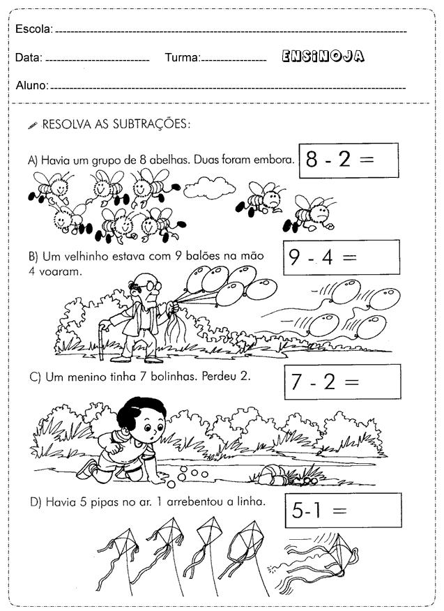 Atividades de Matemática com Situações Problemas