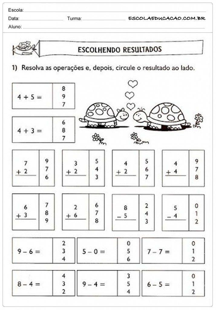 problemas com as quatro operações matemáticas