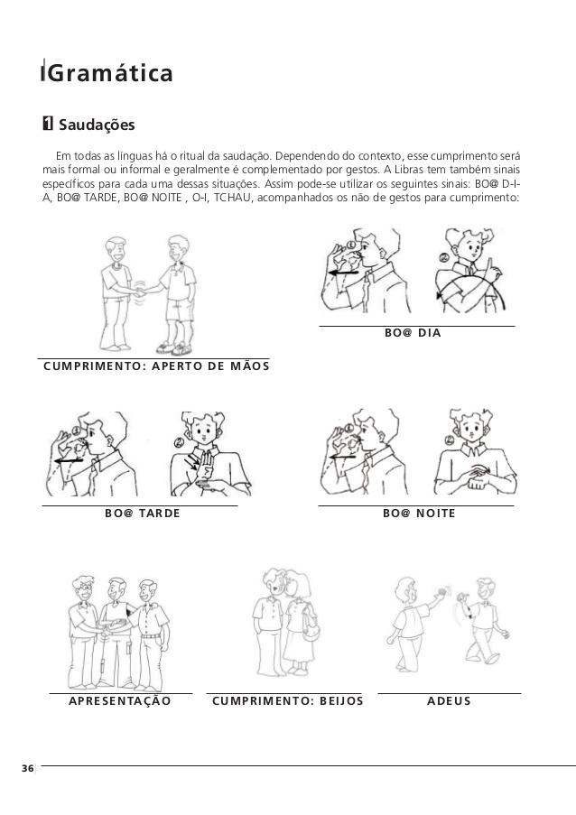 ATIVIDADES DE CUMPRIMENTOS EM LIBRAS