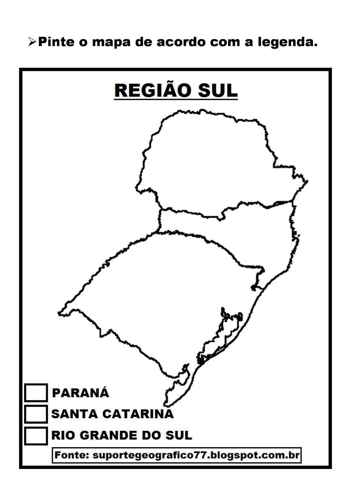 ATIVIDADES SOBRE A REGIÃO SUL