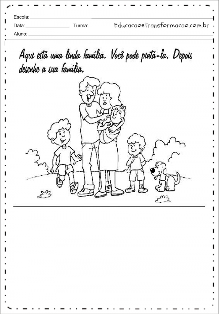 Atividades sobre Família para Educação Infantil