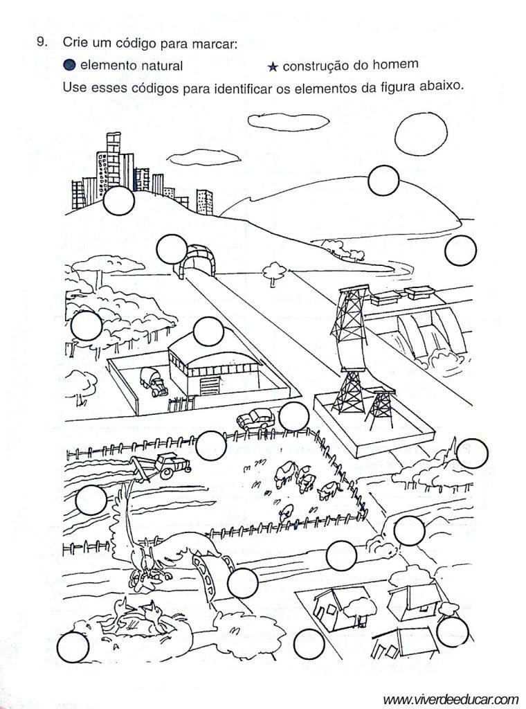 Avaliações de Geografia sobre Paisagens