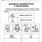 ATIVIDADES INFANTIS SOBRE ANIMAIS DOMÉSTICOS
