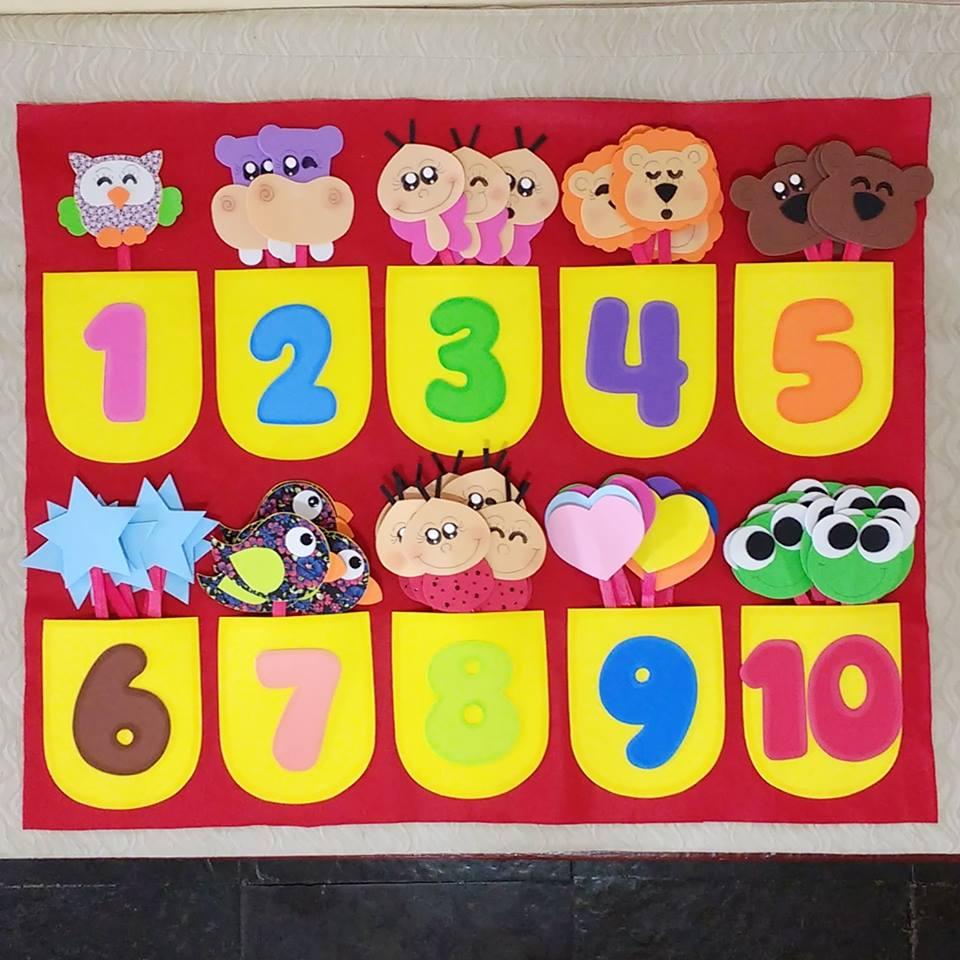IDEIAS DE CARTAZES COM NÚMEROS PARA EDUCAÇÃO INFANTIL